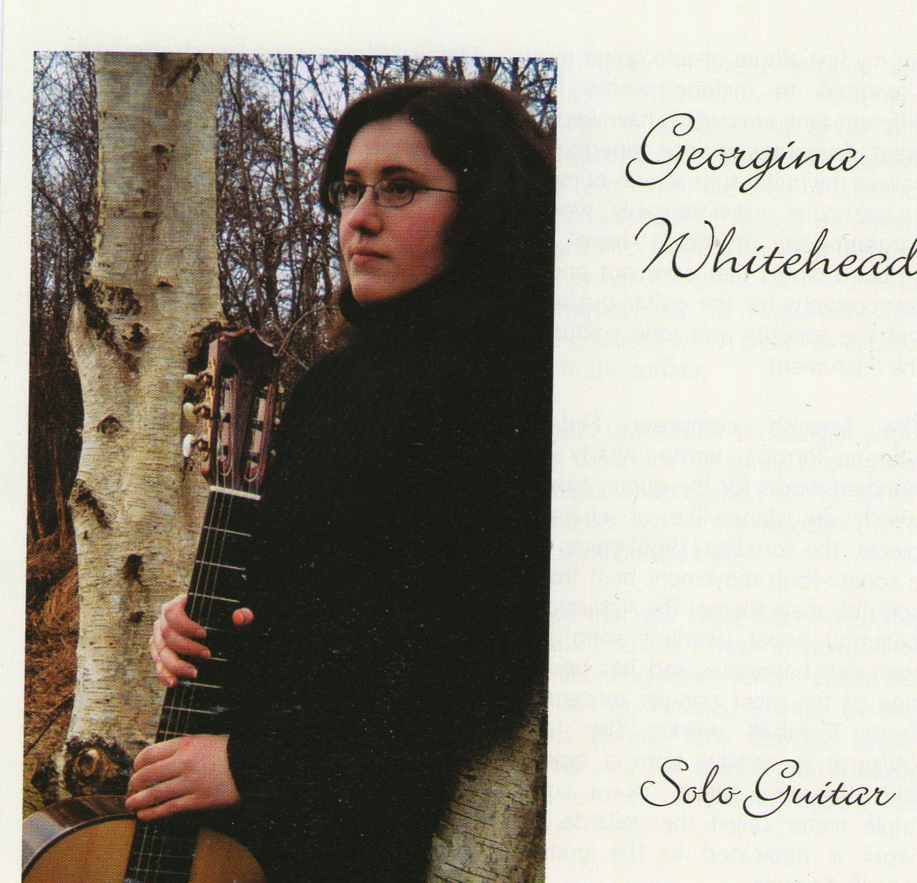 Georgina Whitehead - Solo Guitar CD