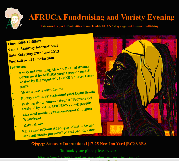 AFRUCA Charity Fundraising evening