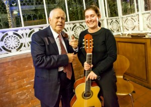 During a moments break at the Horniman Museum, London Georgina was asked a song request by actor Clive Swift.